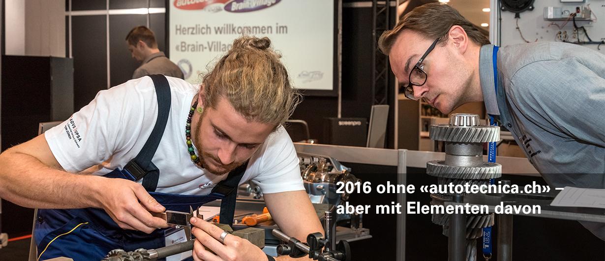 2016 ohne «autotecnica.ch» – aber mit Elementen davon