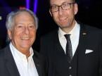 André Hefti, Direktor des Genfer Auto-Salons, und Dieter Jermann.